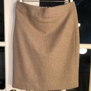 J. Crew Wool Pencil Skirt In Heather Camel
